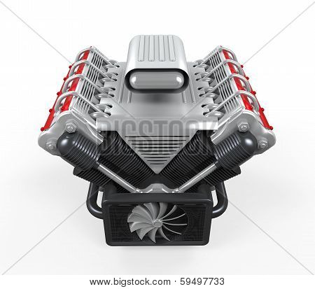 V8 Car Engine