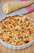 image of parsnips  - Healthy vegan Parsnip Gratin on a table - JPG
