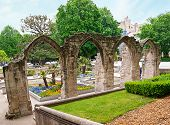 foto of avignon  - The ruins of old church in the garden near the Temple of Saint Martial - JPG