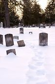 Winter Scene At A Cemetery