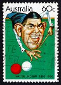 Postage Stamp Australia 1981 Walter Lindrum, Billiards Player