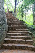 stock photo of stepping stones  - old stone - JPG