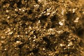 picture of pyrite  - golden background ( mineral pyrite texture from nature)