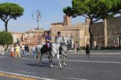 The Via Dei Fori Imperiali - A Road In The Centre Of The City Of Rome, Italy
