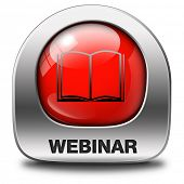 picture of video chat  - webinar online internet web conference meeting or workshop live video chat - JPG