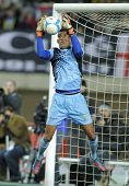BARCELONA - DEC, 30: Cape Verdean goalkeeper Vozinha in action during the friendly match between Cat