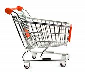 pic of grocery cart  - Shopping cart isolated on white background  - JPG
