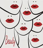 stock photo of pouty lips  - beauty faces women lips - JPG