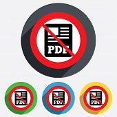 PDF file document icon. No Download pdf button.