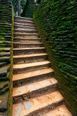 old stairs in Sigiriya, Sri Lanka