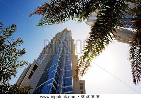 Dubai, Uae - September 10: The View On Two Towers Of Jw Marriott Marquis Dubai Hotel On September 10