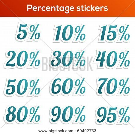 Percentage Sticker Collection