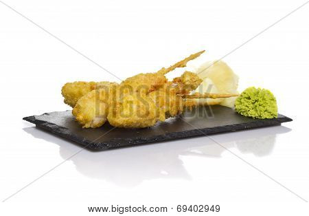Eby Shrimp In Tempura Isolated On White Background