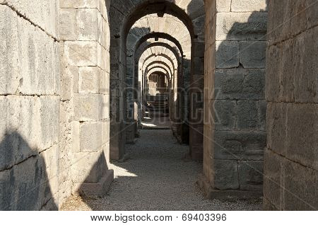 Corridor with arches