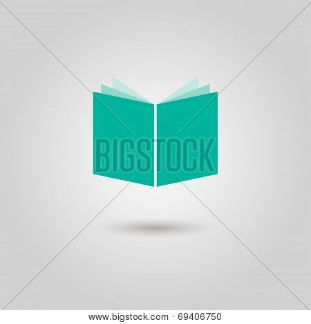 Book Icon With Shadow