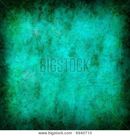 Turquoise Grunge Textured Abstract Background