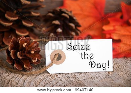 Autumn Label With Seize The Day