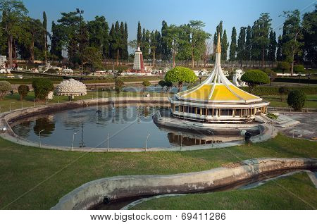 King Rama Ix Royal Park In Mini Siam Park