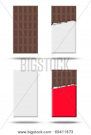 Chocolate vector set