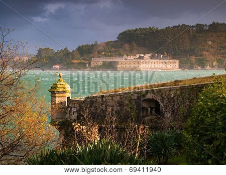 Ferrol, Spain - February 08: San Felipe And La Palma Castles On February 08 , 2014, In Ferrol, Spain