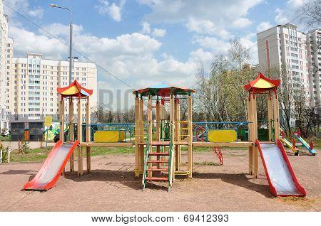 Children's Playground In The Yard