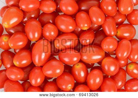 tiny tomatoes closeup