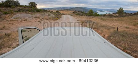 Landscape From The Roof Of A Van