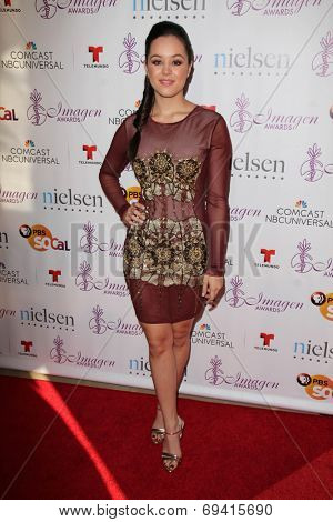 LOS ANGELES - AUG 1:  Hayley Orrantia at the Imagen Awards at the Beverly Hilton Hotel on August 1, 2014 in Los Angeles, CA