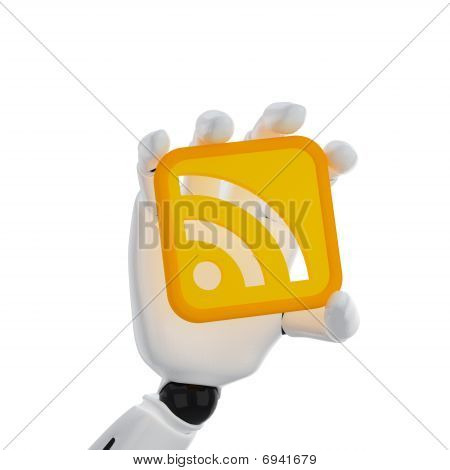 Robotic Hand Hold A Rss Symbol