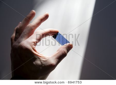 Solar Chip In Sun Beam
