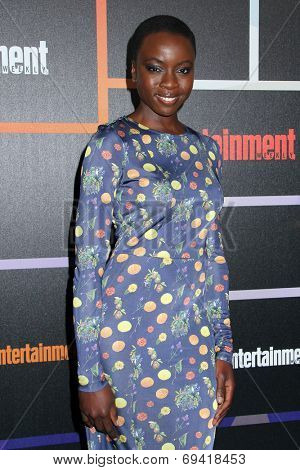 SAN DIEGO - JUL 26:  Danai Gurira at the Emtertainment Weekly Party - Comic-Con International 2014 at the Float at Hard Rock Hotel San Diego on July 26, 2014 in San Diego, CA
