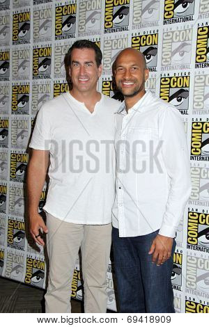 SAN DIEGO - JUL 25:  Rob Riggle, Keegan-Michael Key at the