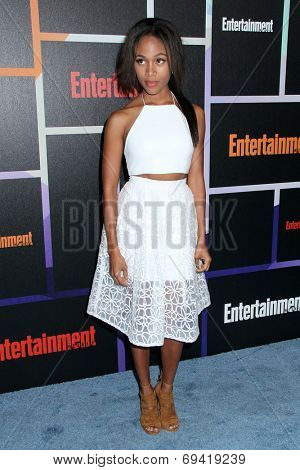 SAN DIEGO - JUL 26:  Nicole Beharie at the Emtertainment Weekly Party - Comic-Con International 2014 at the Float at Hard Rock Hotel San Diego on July 26, 2014 in San Diego, CA