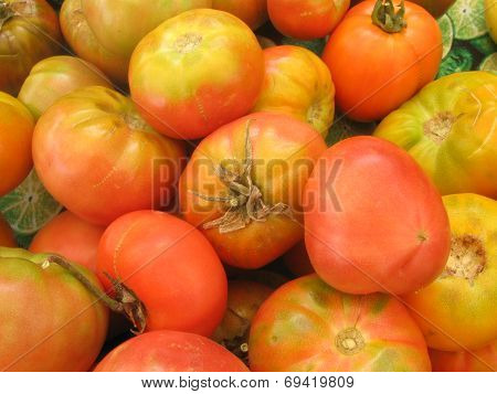 golden heirloom tomatoes tumbling