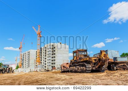 Machinery On Construction Site