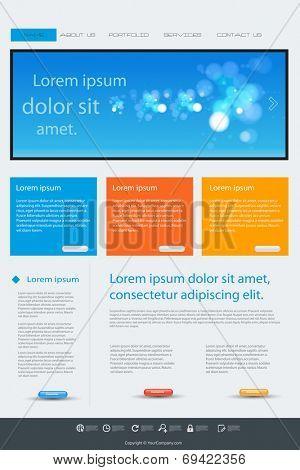 Website blue color template