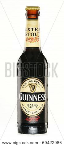Bottle Of Guinness Beer Isolated On White