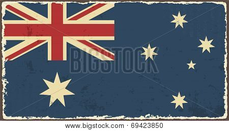Australian grunge flag. Vector illustration