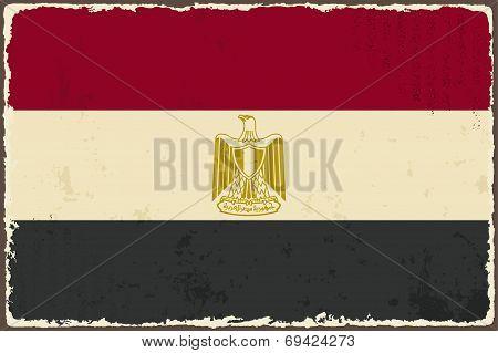 Egyptian grunge flag. Vector illustration