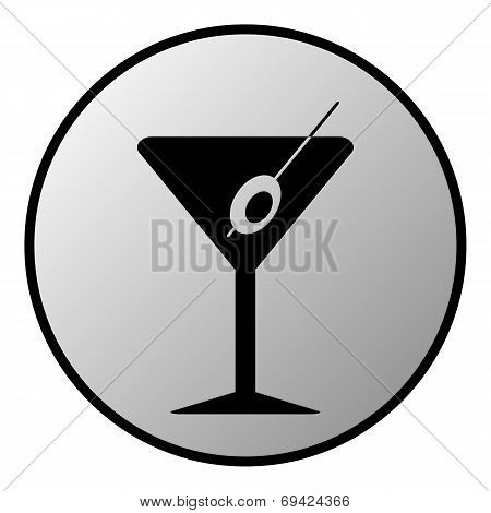 Martini Glass Button
