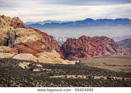 Red Rock Canyon near Las Vegas, Nevada.