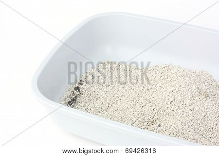 Cat Litter Box Isolated On White