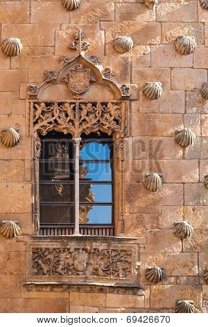 Window Of The House Of Shells In Salamanca