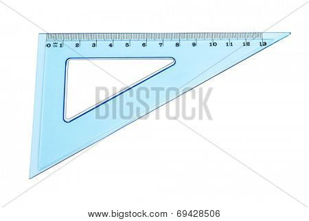 blue triangle isolated on white background
