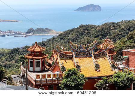 Chinese Temple In Jiufen, Taiwan