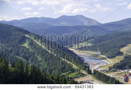 Bukovel Scenic Mountain Landscape