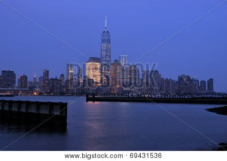 Night View Of Manhattan