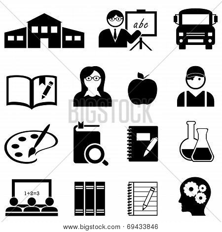 Learning, School And Education Icons