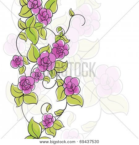 Few flowers on white background
