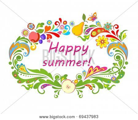 Summery card with fruits